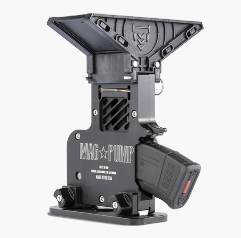 MagPump AK-47 Elite rifle magazine loader is CNC machined from aluminum billet and laser engraved