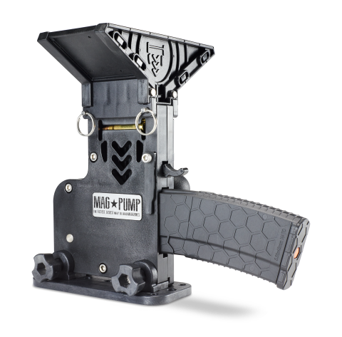 MagPump AR-15 PRO magazine loader is compatible with all Mil-Spec AR-15 magazines