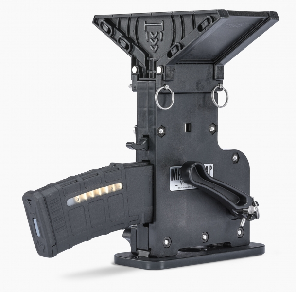 MagPump AR-15 standard magazine loader pump side shown with magazine