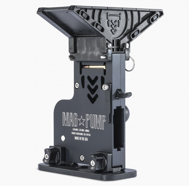 MagPump AR-15 Elite magazine loader is CNC machined from aluminum billet and laser engraved